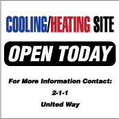 Cooling Heating Site Sign