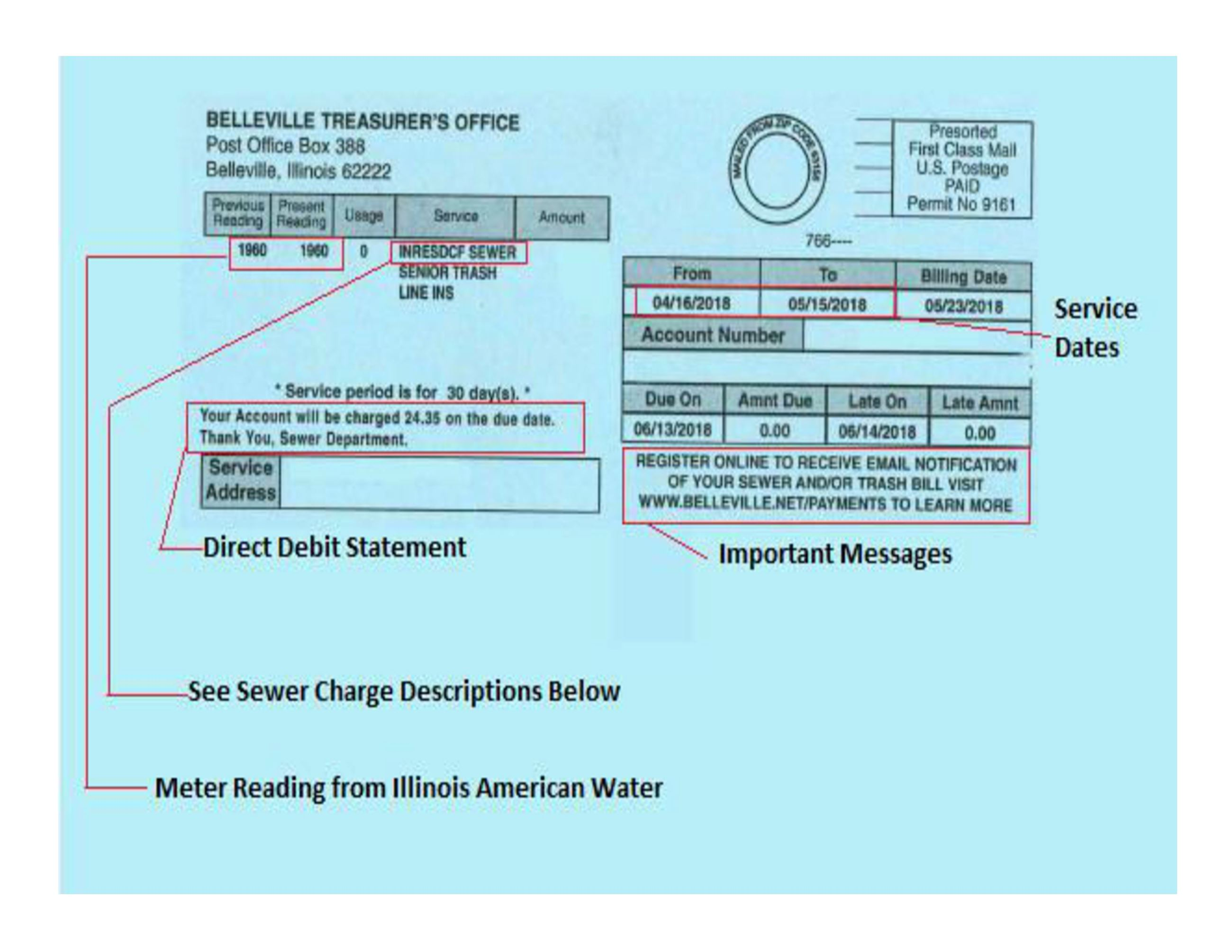 Sample Sewer Bill 8-31-18