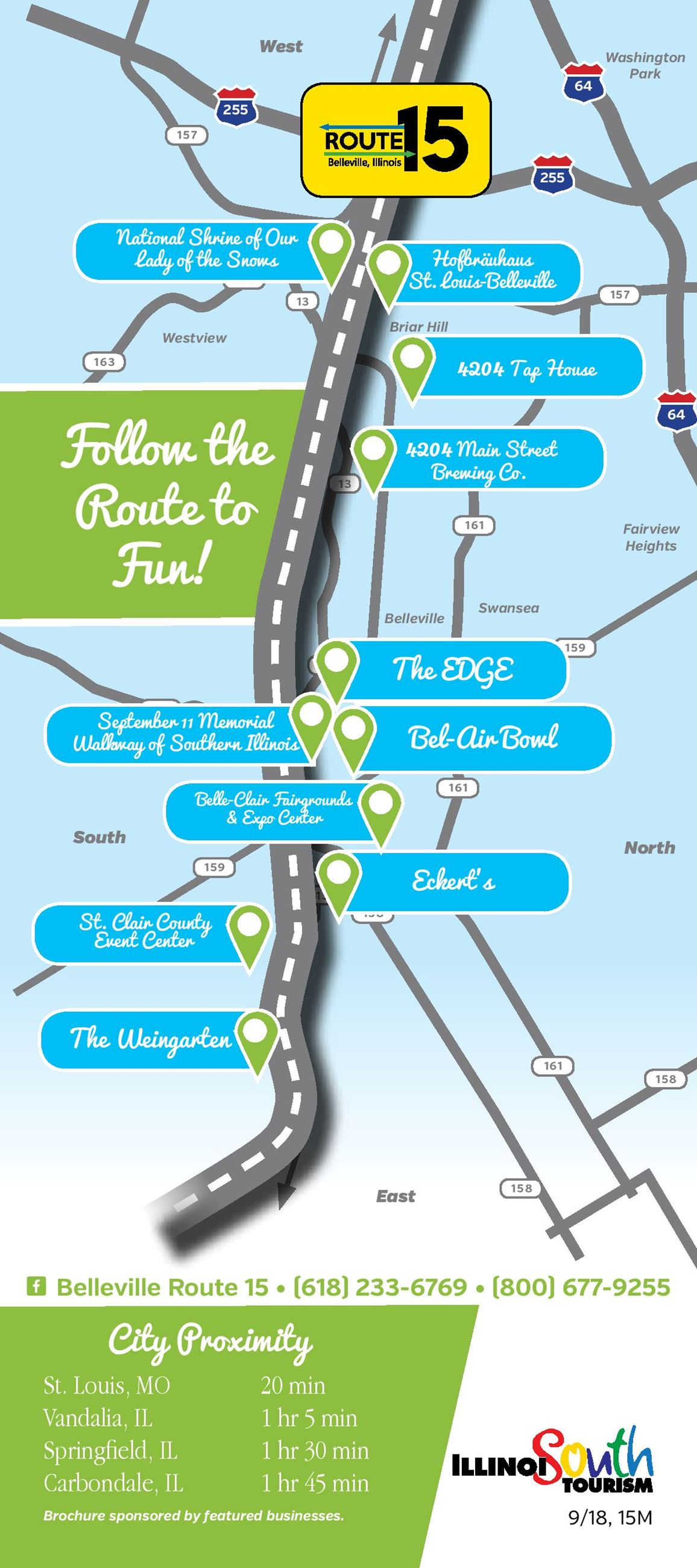 Route 15 Brochure Map
