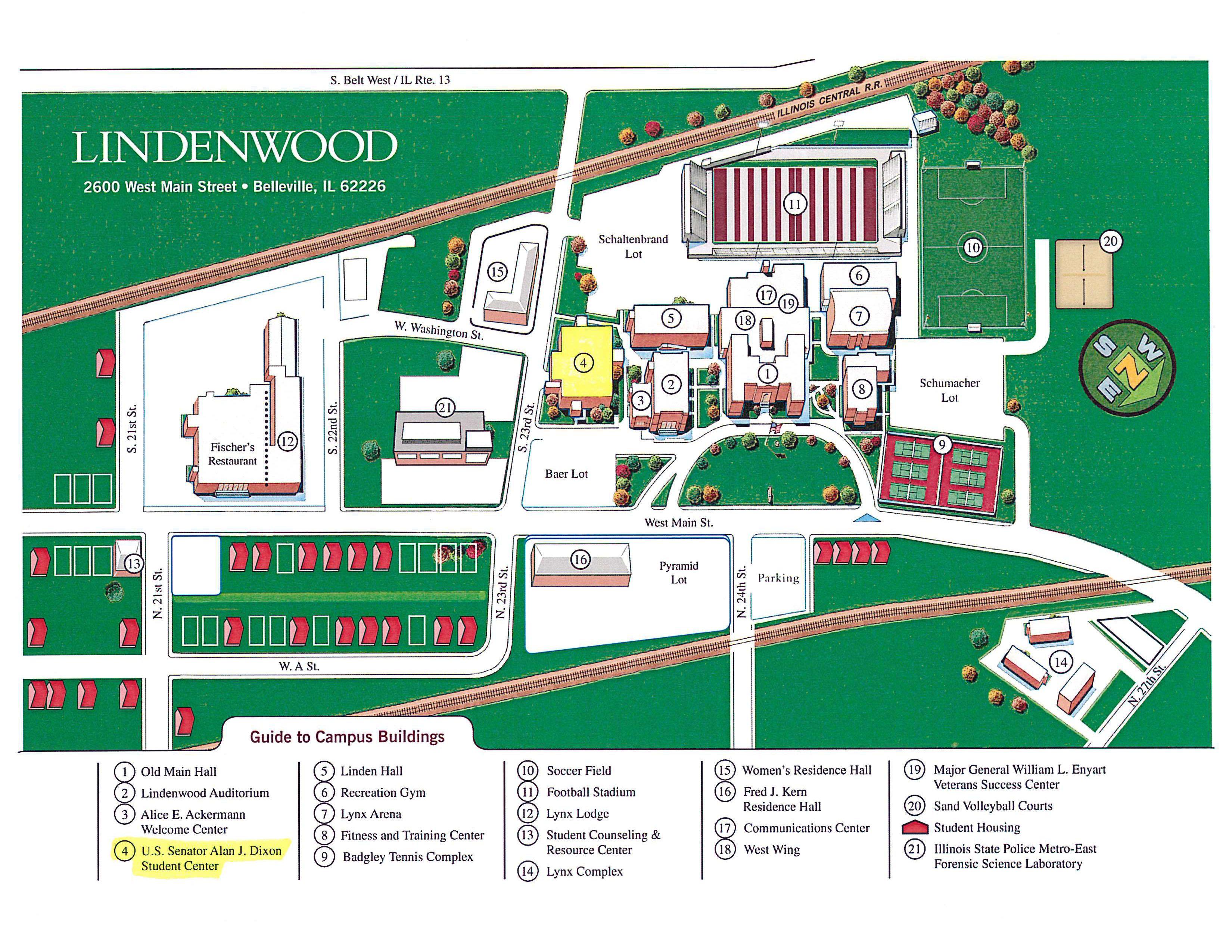 lindenwood university campus map Belleville Il Official Website lindenwood university campus map