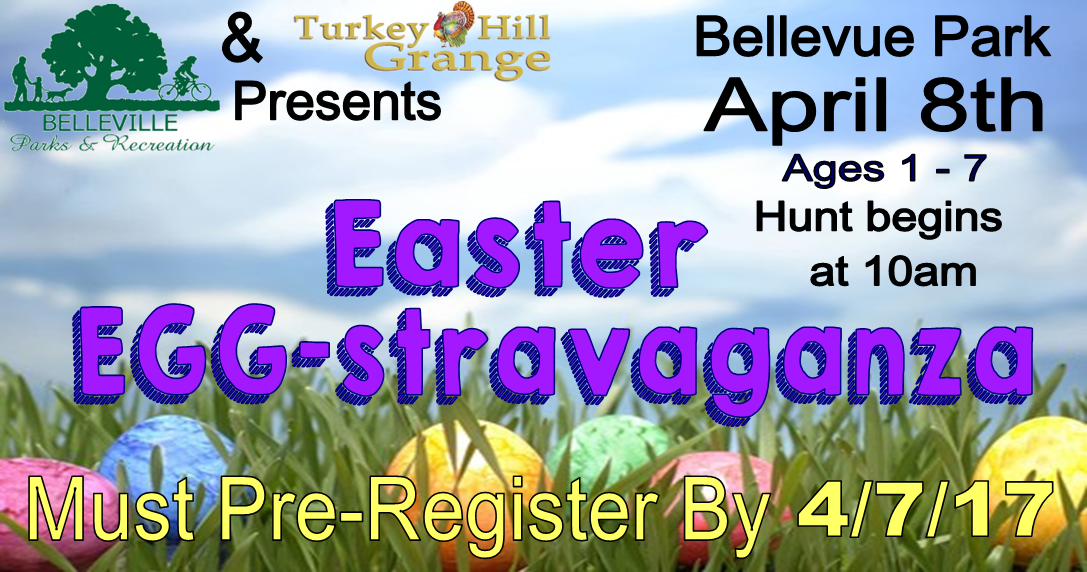 City of Belleville Parks and Recreation Easter Egghunt Bellevue Park Turkey Hill Grange